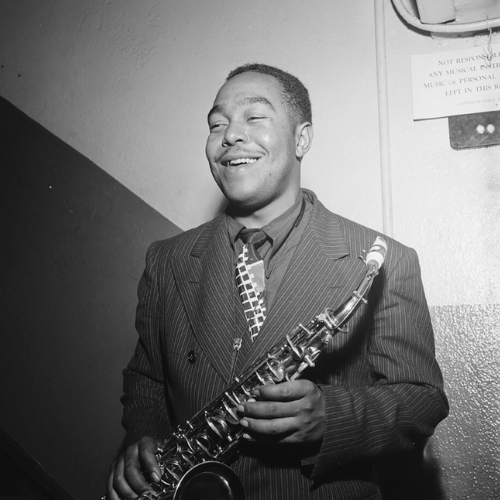 Portrait of Charlie Parker, Carnegie Hall, New York, N.Y., ca. 1947 photo: William P. Gottlieb/ Ira and Leonore S. Gershwin Fund Collection, Music Division,  Library of Congress
